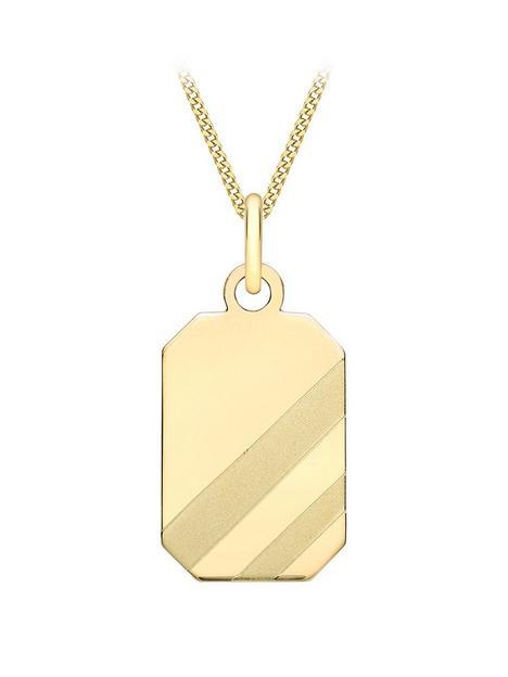 love-gold-9ct-yellow-gold-105mm-x-235mm-mens-octagonal-pendant