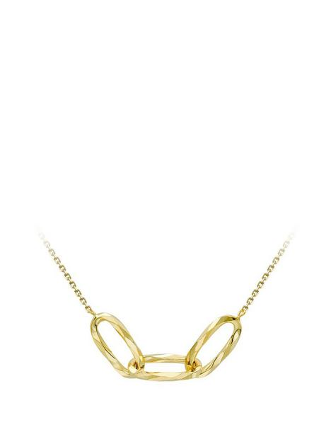 love-gold-love-gold-9ct-yellow-gold-345mm-x-65mm-diamond-cut-linked-ovals-adjustable-necklace
