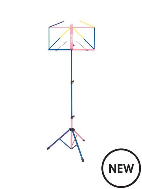 kinsman-kinsman-deluxe-music-stand-and-bag--multicolour
