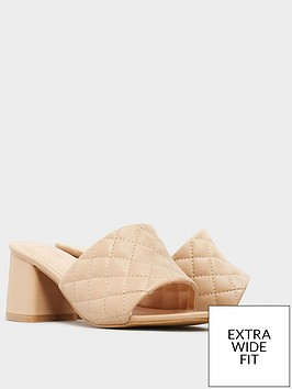 yours-yours-block-heel-quilted-mule-cream