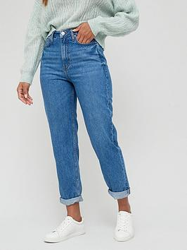 v-by-very-thenbspmom-vintage-high-waist-jean-mid-washnbsp
