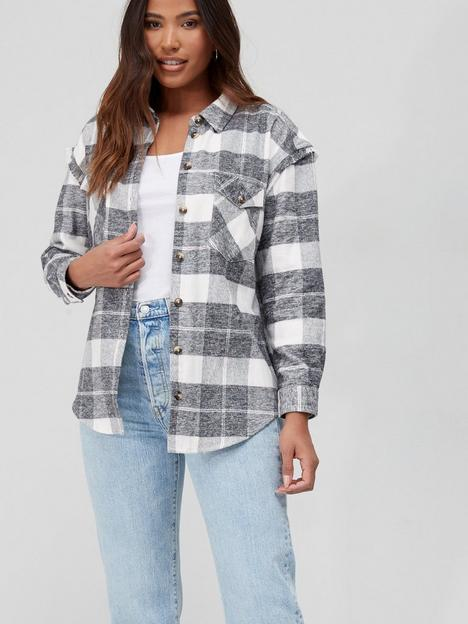 v-by-very-flannel-check-over-shirt-grey-check