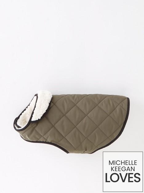 michelle-keegan-quilted-teddynbsplinednbspdog-coat-olive