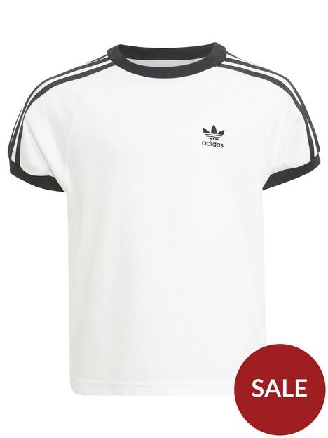 adidas-originals-kids-unisex-3-stripes-t-shirt-whiteblack