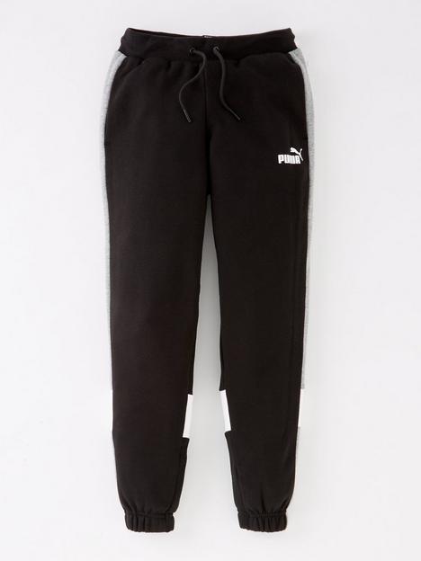 puma-puma-boys-essentials-colorblock-fleece-pants