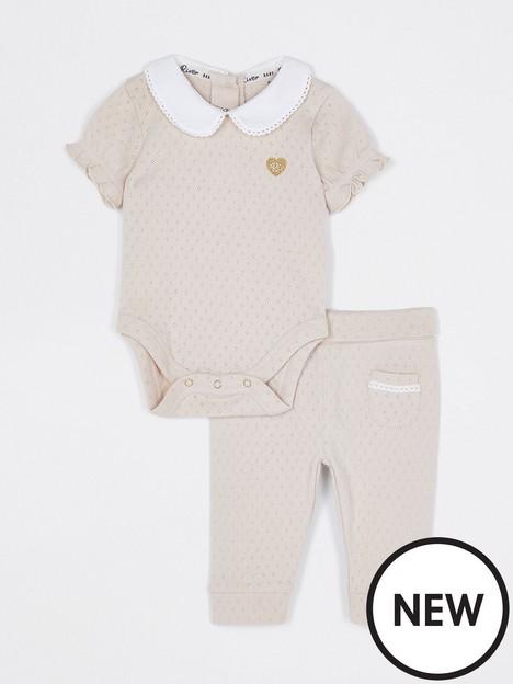river-island-baby-baby-girls-collar-pointelle-set-beige