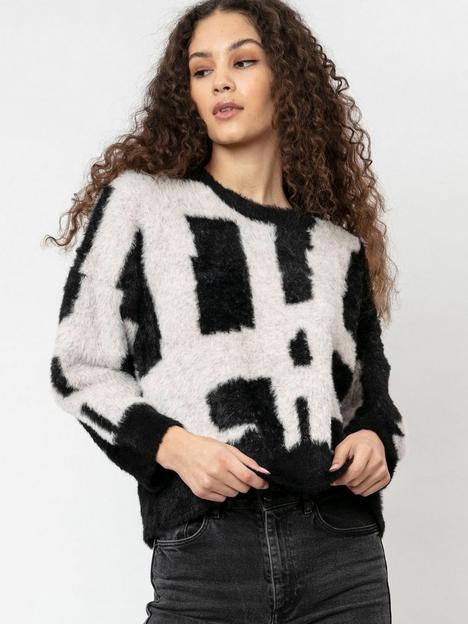 religion-abstract-knitted-jumper-black
