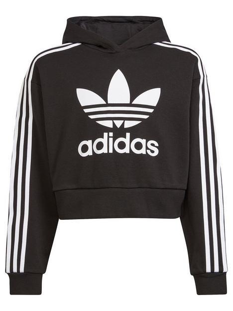 adidas-originals-junior-girls-cropped-hoodie-blackwhite