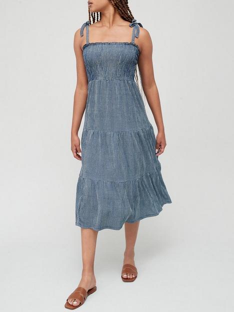v-by-very-tie-shoulder-midi-dress-blue