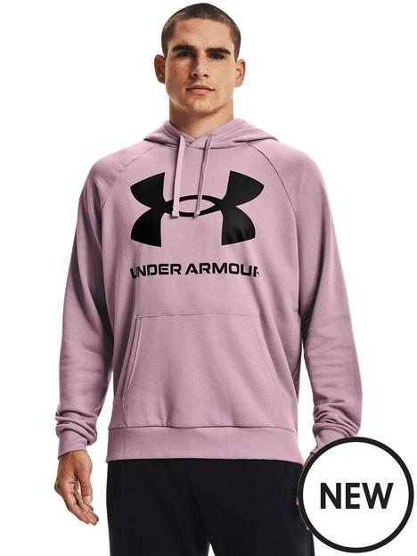under-armour-training-rival-fleece-big-logo-hoodie-pinkblack