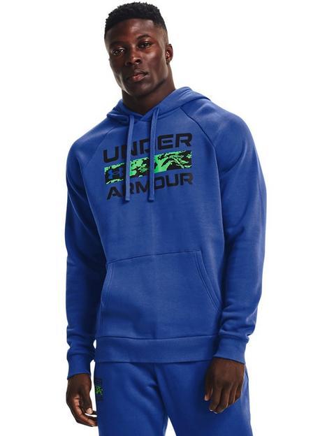 under-armour-training-rival-fleece-signature-hoodie-blue