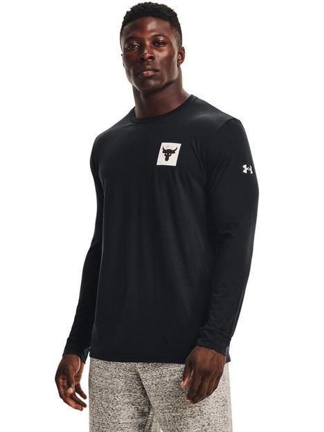 under-armour-training-project-rock-brahma-bull-long-sleeve-t-shirt-blackwhite