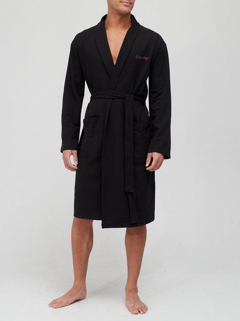 calvin-klein-dressing-gown-black