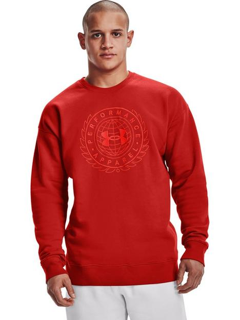 under-armour-training-rival-fleece-alma-mater-crew-sweat-top-red
