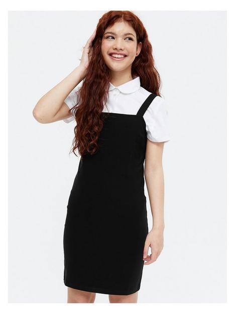 new-look-915-girls-pinafore-dress--black