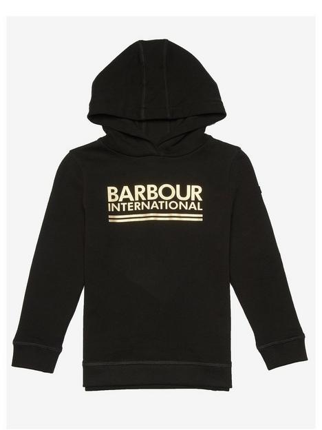 barbour-international-girls-reina-logo-hoodie-black