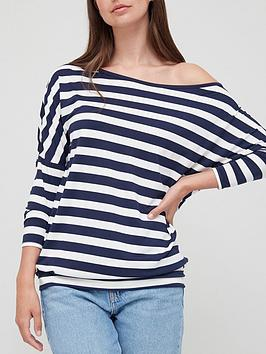 v-by-very-slouch-shoulder-long-sleeve-tee-stripe-print
