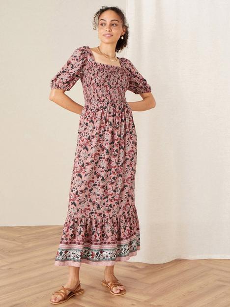 monsoon-sophie-print-shirred-midi-dress