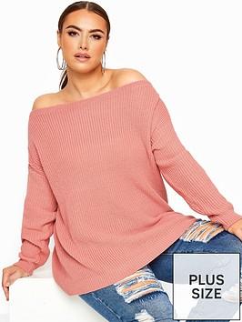 yours-yours-basic-off-shoulder-jumper-pink