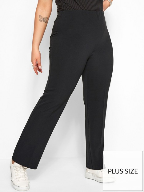 yours-yours-bootcut-32-ponte-rib-trouser-black