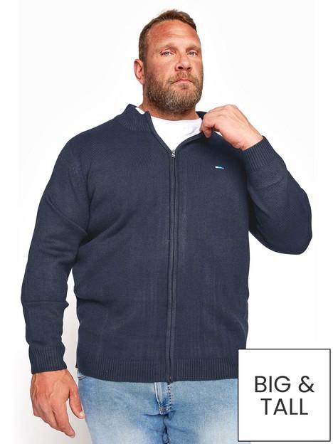badrhino-essential-full-zip-knitwear-navy