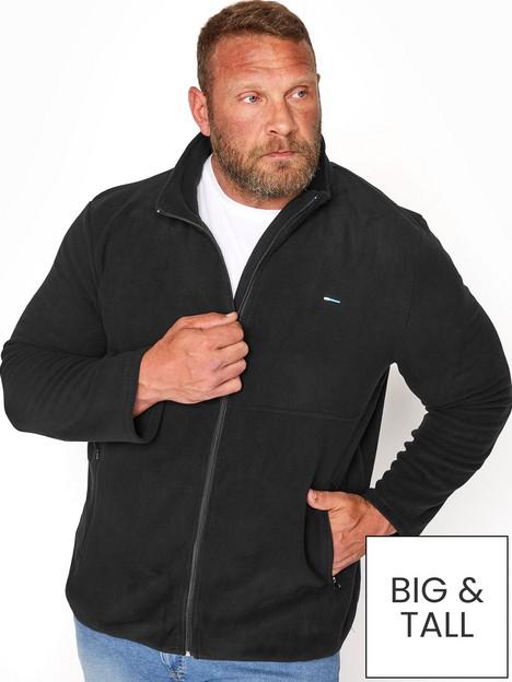 badrhino-essential-zip-through-fleece-blacknbsp