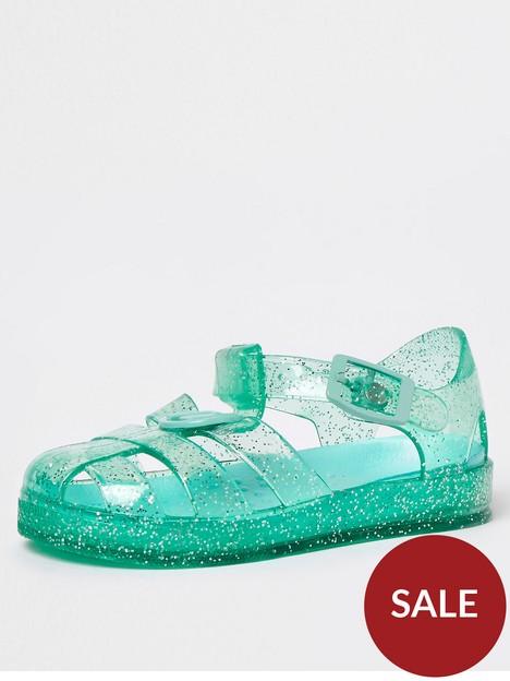 river-island-mini-mini-girls-glitter-jelly-sandal-green