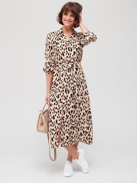 fig-basil-button-front-printed-shirt-midi-dress-animal