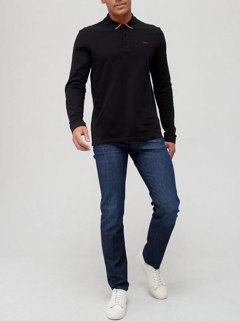 hugo-donol-long-sleeve-polo-shirt-dark-blue