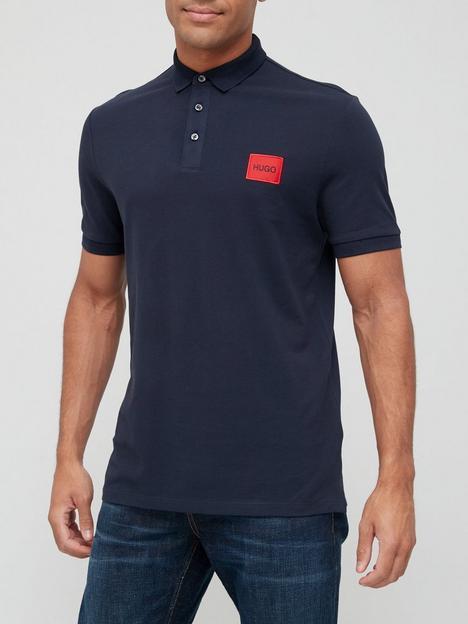 hugo-dereso-red-patch-logo-polo-shirt-dark-blue