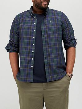 farah-big-amp-tallnbspchecked-shirt-olive