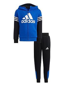 adidas-kids-unisex-lk-badge-of-sport-fleece-set-blueblack