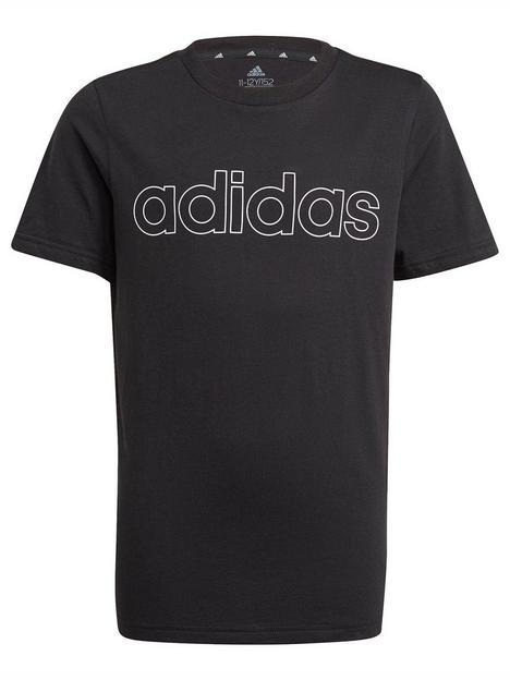 adidas-junior-boys-linear-t-shirt-blackwhite