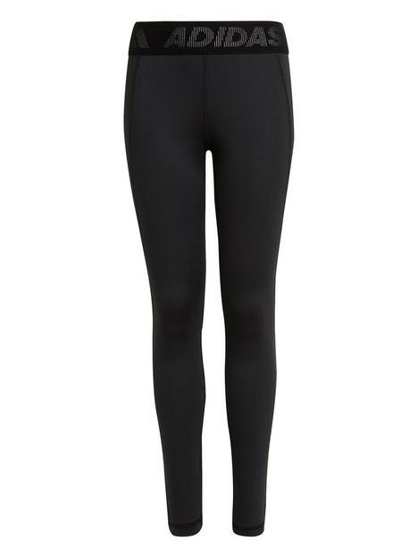 adidas-junior-girls-techfit-legging-black-white