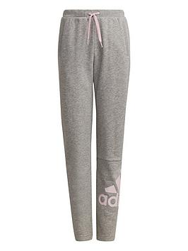 adidas-junior-girls-bi-french-terry-pant-greypink