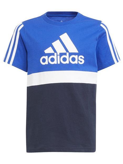 adidas-junior-boys-logo-t-shirt-bluenavy