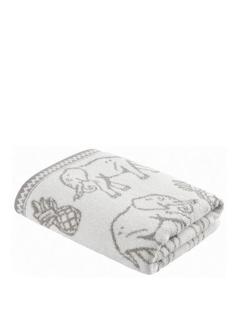 pineapple-elephant-tembo-hand-towel-grey