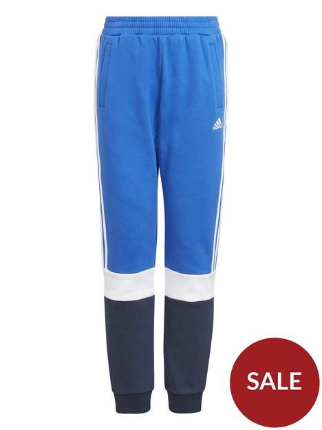 adidas-junior-boys-fleece-cuffed-pant-bluenavy