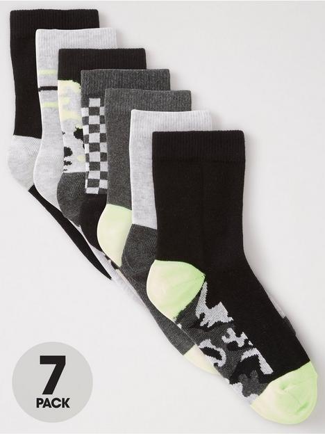 v-by-very-boys-7-pack-camochecker-board-socks-multi