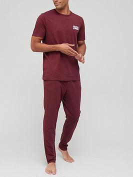 jack-jones-nightwear-set-burgundy