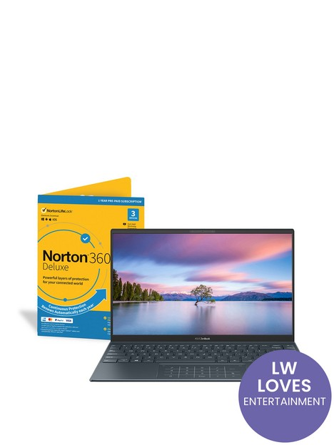 asus-zenbook-14nbspux425ja-bm192t-laptop-14in-fhdnbspintel-core-i7-1065g7nbsp16gb-ramnbsp512gb-ssd-iris-plus-graphics-with-norton-360-included-grey
