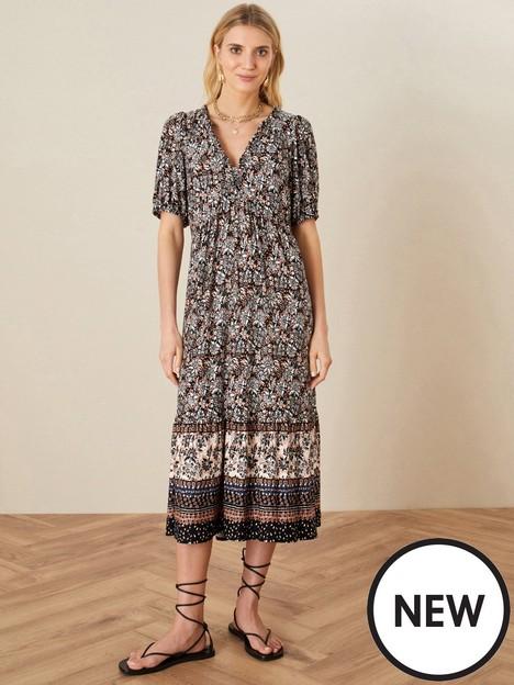 monsoon-heritage-print-border-midi-dress