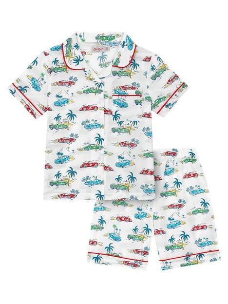 cath-kidston-boys-palm-drive-short-sleeve-woven-pyjamas-ivory