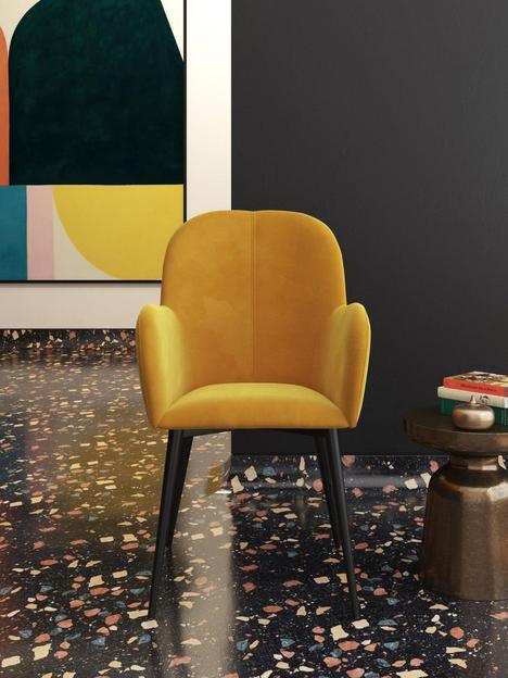 cosmoliving-by-cosmopolitan-fitz-accent-velvet-chair-mustard