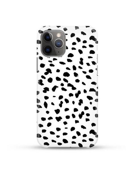 coconut-lane-iphone-12-12-pro-case-monochrome-spots