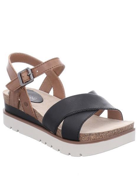 josef-seibel-clea-wedge-sandals-tanblacknbsp