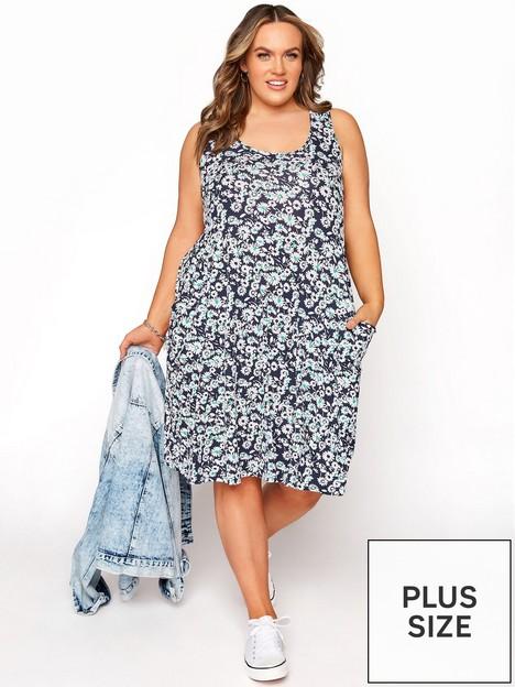 yours-yours-sleeveless-floral-drape-pocket-dress--nbspnavy