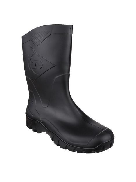dunlop-dee-half-wellington-boots-black