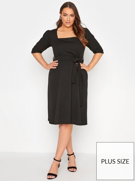 yours-yours-london-square-neck-fit-and-flare-dress-black