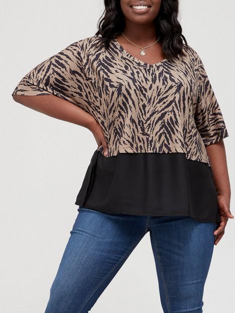 v-by-very-curve-chiffon-hem-jersey-top-zebra-print